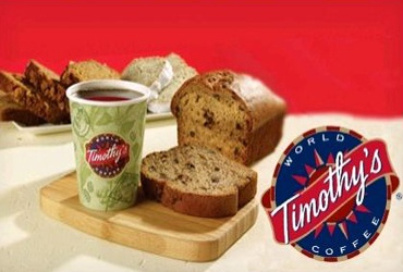 - Free coffee at Timothys world coffee club