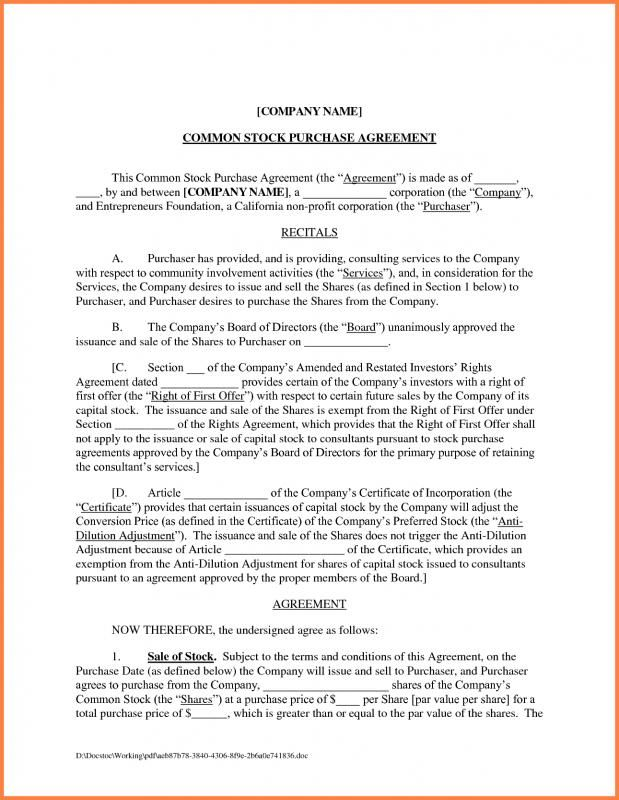 """Subject to the terms and conditions of this stock purchase agreement, the seller agrees to sell to the purchaser, and the purchaser agrees to purchase from the seller, number.type shares of the company stock (the """"shares""""). Sales Agreement Template Check More At Https Nationalgriefawarenessday Com 8389 Sales Agreement Template"""
