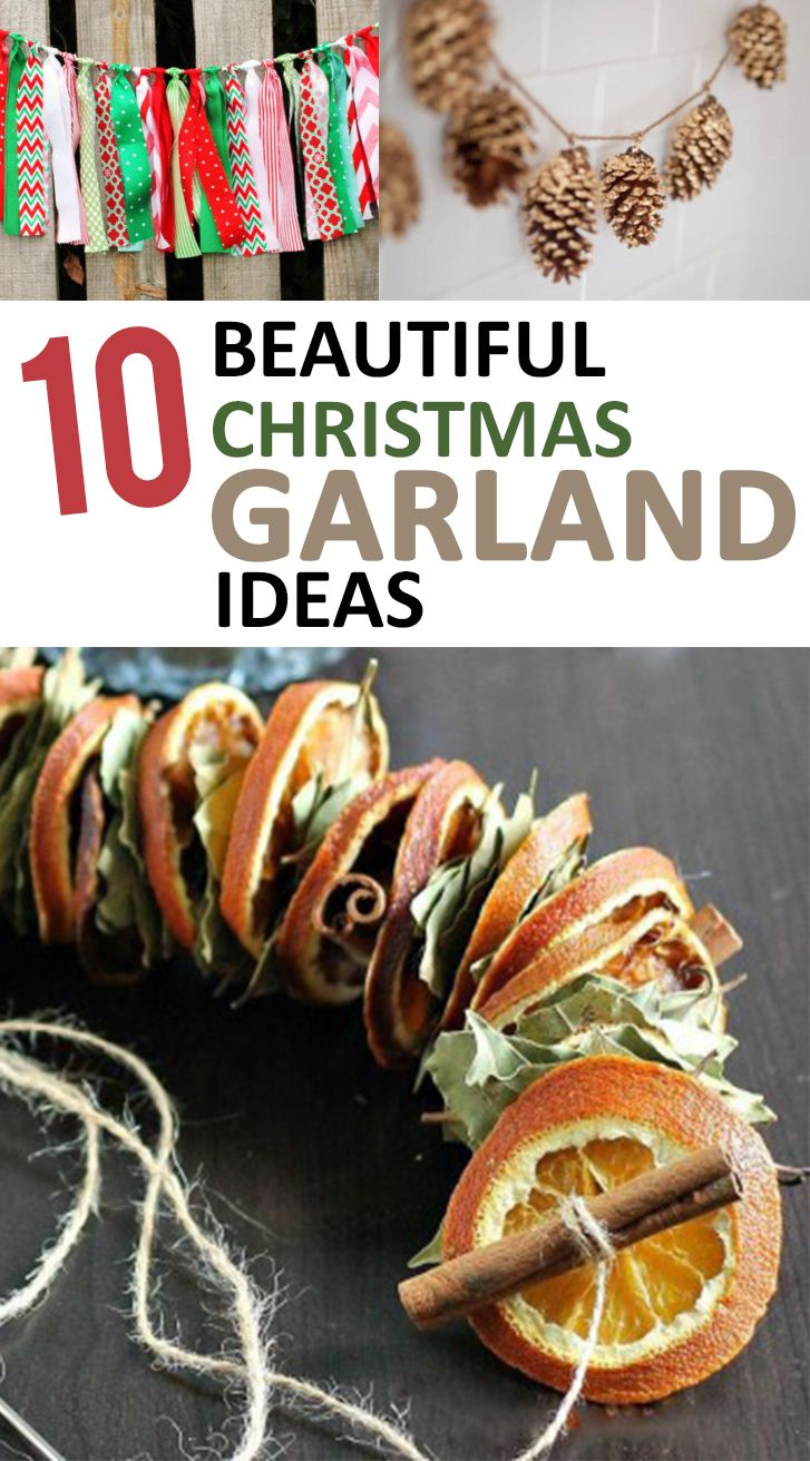 Look and make any of these amazing Christmas garland ideas!
