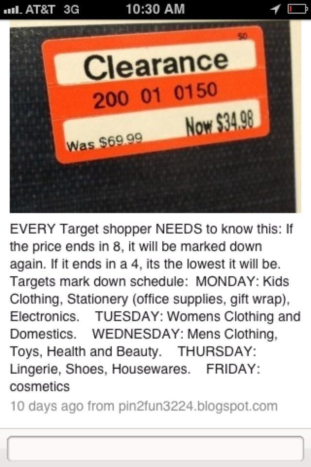 Tips on Target sales    #sales #target #budget