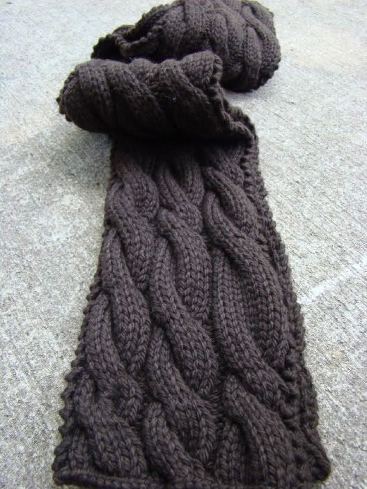 10+ ideas about Cable Knit Scarves on Pinterest Knitting, Cable knit and Ea...