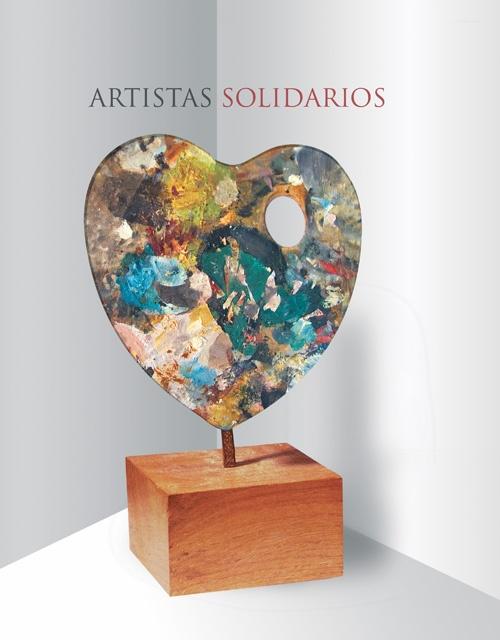Cartel promocional de la exposición solidaria para la Asociación Española contra el Cáncer.