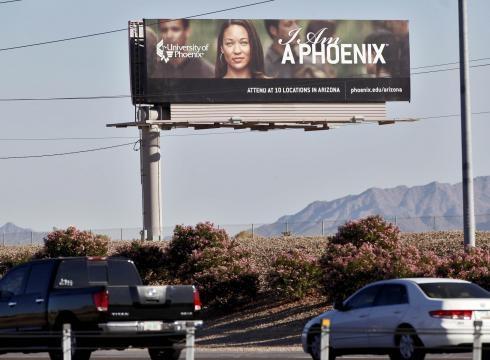 A University of Phoenix billboard in Chandler, Ariz., in 2009.
