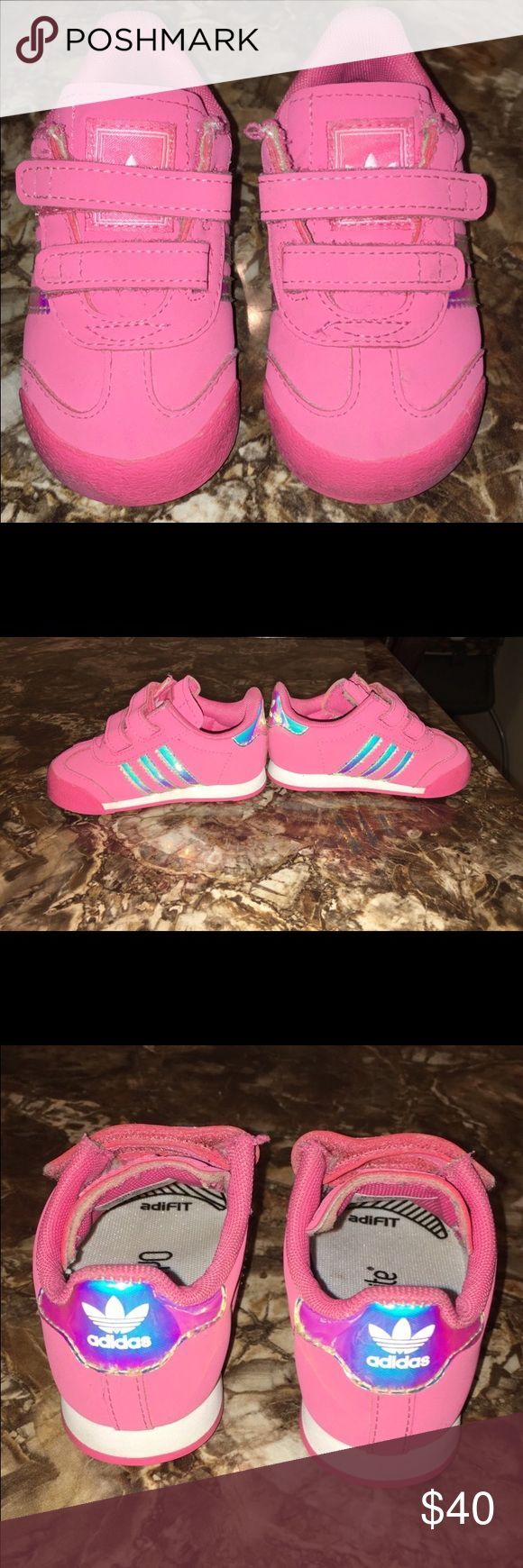 Size 5 toddler pink adidas Good condition , comfortable for kids Adidas Shoes Sneakers
