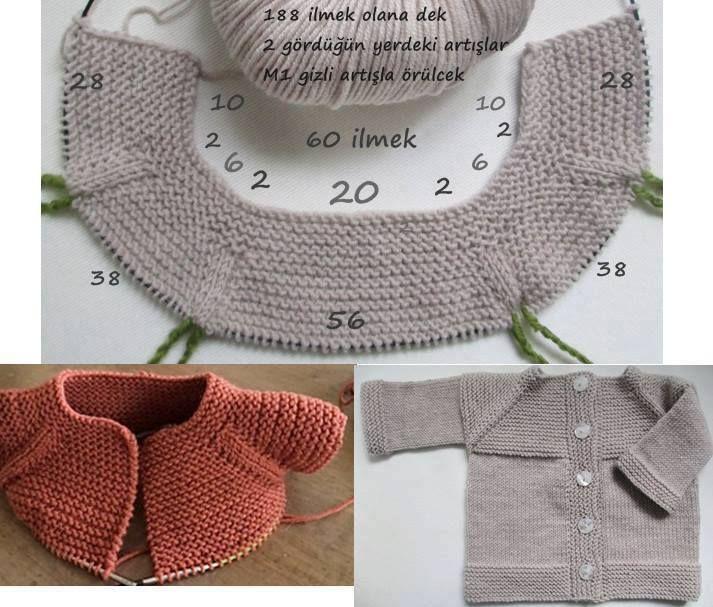 Kolay Bebek Hırkası Örgüsü []  | <br/>    Crochet