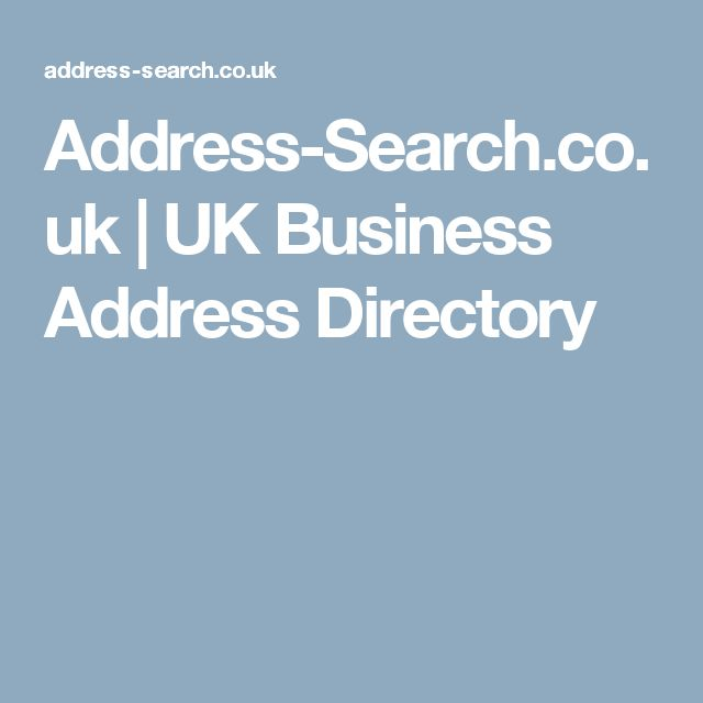 Address-Search.co.uk | UK Business Address Directory