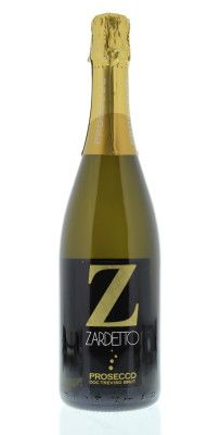 Brut Zardetto Prosecco di Treviso Brut, Veneto, Italy label, dry, sparkling wine with hints of peach and pear  | Recommended for Bellini's