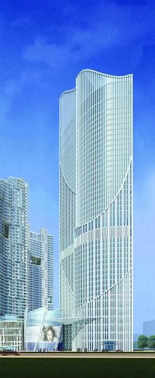 Harbor View Hotel Phase 2, Dalian, China by Tange Associates :: 60 floors, height 218m