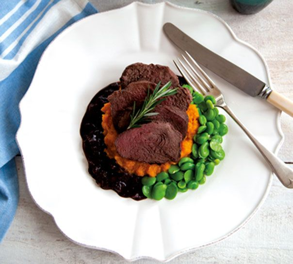 When Thea and Mark are in Queenstown, she has a venison meal like this one. (Venison Steaks with Balsamic Jus, Annabel Langbein)