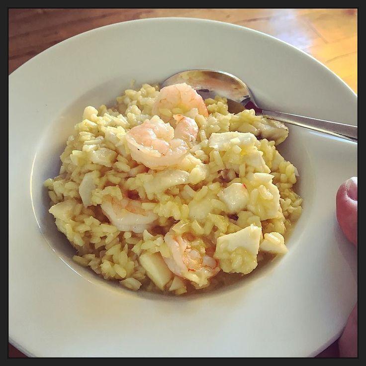 Vandaag #eten we visrisotto... :-) #mjam!