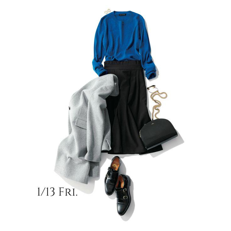 きれいブルーを味方に、品の良さを取り入れたコーデで運だめし!Marisol ONLINE|女っぷり上々!40代をもっとキレイに。