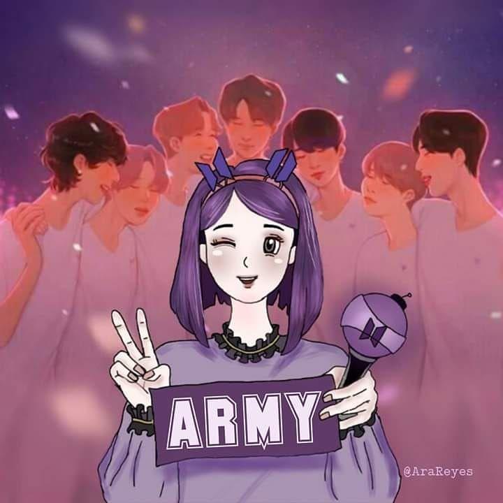 Thỏ Xu On Twitter Bts Drawings Fan Art Army Wallpaper Cool cartoon army image wallpaper