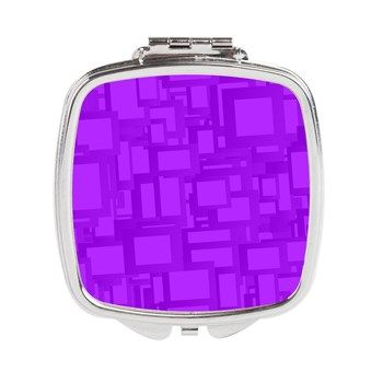 Moody Purple Abstract Art Square Compact Mirror