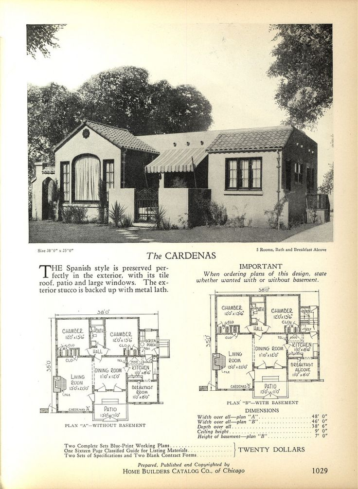 318 Best Images About Vintage House Plans On Pinterest