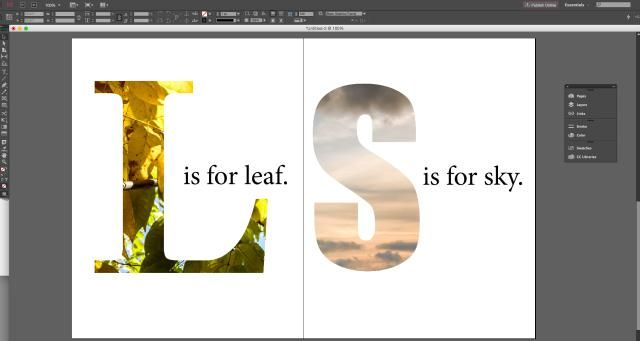 How To Use Text As An Image Mask In Adobe InDesign