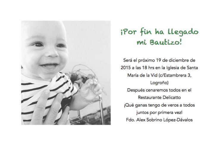 Texto invitación online Bautizo