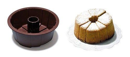 Deze bakvorm verdeelt je taart handig in porties van verschillende formaten. Ieder kies dus een stukje dat bij zijn mate van honger past! Te koop: http://www.pannen.nl/silcone-bakvorm-klein-hoog