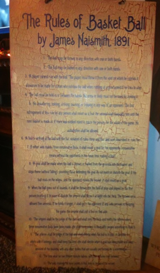The 13 Original Rules Of Basketball Sign My Creative Sis
