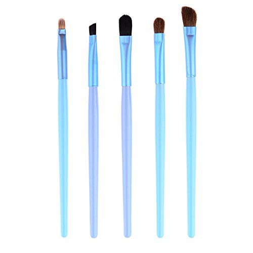 Makeup Brush PeleusTech 5Pcs Professional Cosmetic Makeup Brush Eye Makeup Tool with Steel Tube Case  Sapphire ** You can find out more details at the link of the image.
