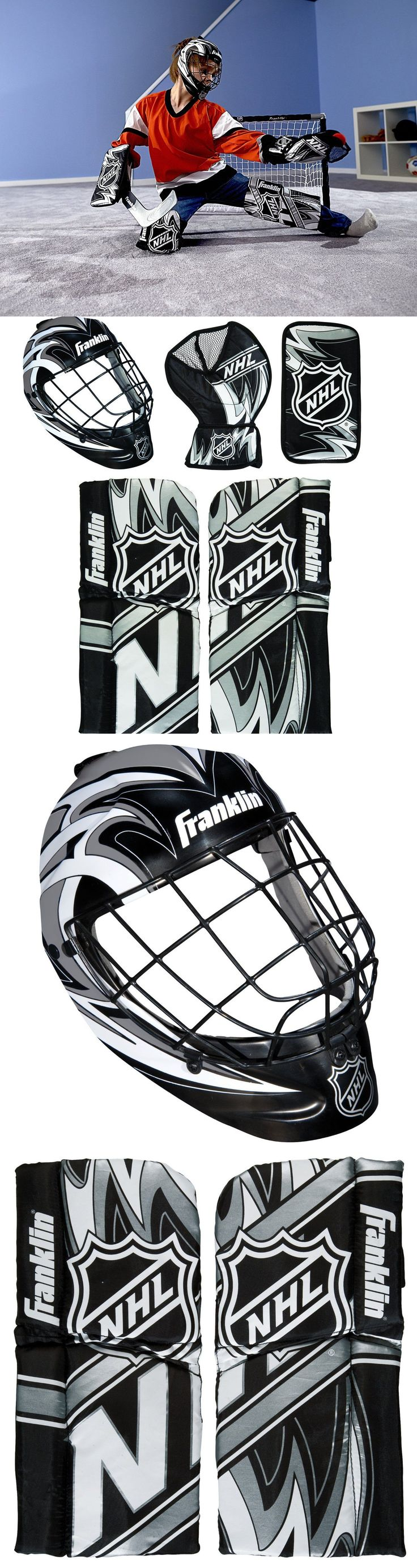Other Hockey Goalie Equipment 79765: Kids 5P Hockey Mini Goalie Equipment For Small Net Mask Glove Knee Pads Ages 3-6 BUY IT NOW ONLY: $55.98