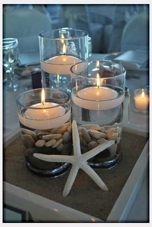 Decorations, Beach Wedding Centerpiece Idea DIY: Best Beach Wedding Centerpieces Ideas by LUVWUT