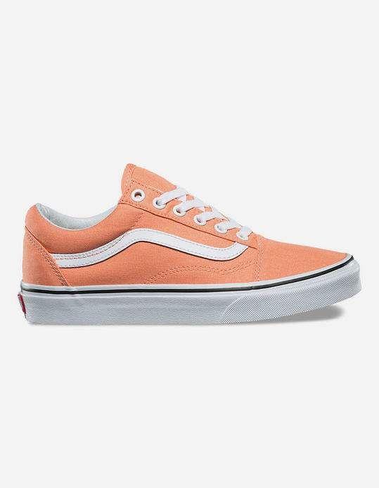 a004f94722 VANS Old Skool Peach Pink   True White Womens Shoes - NEORG - 321288563