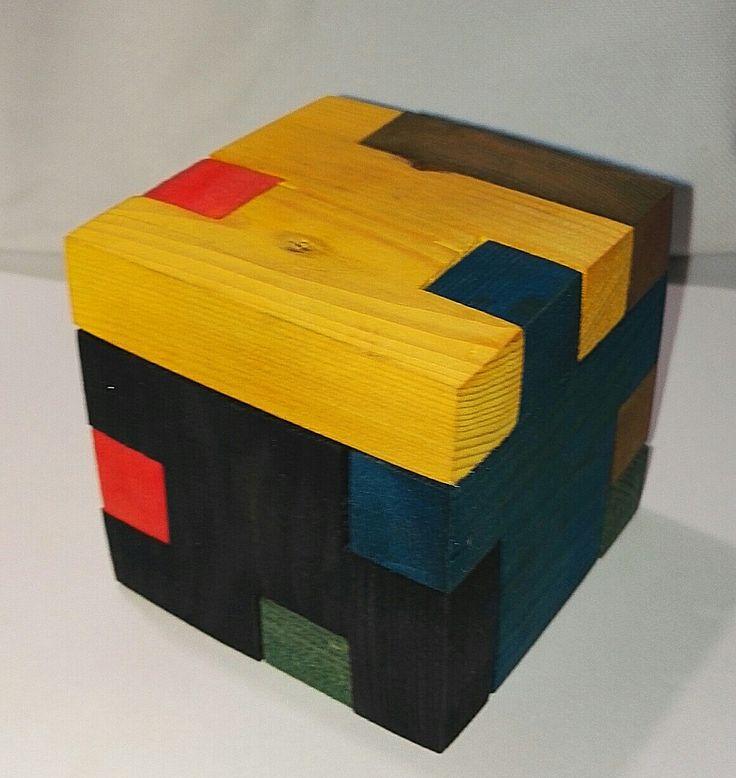 Wooden, puzzle's box.