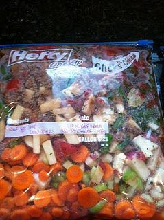 5 Freeze & Dump Meals for the Crockpot (Grocery List Included)....definitely doing this!!!!!!!!