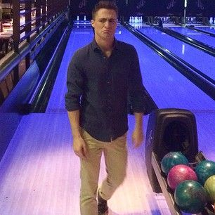 When he took this adorable photo frowning at a bowling alley. | 24 Times Colton Haynes Killed It On Instagram