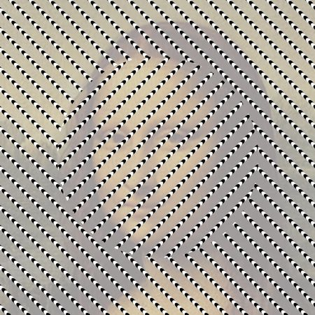 Optical illusion - centre moves in relation to  the rest.
