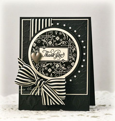 Very striking in ivory and black! A real WOW! card!