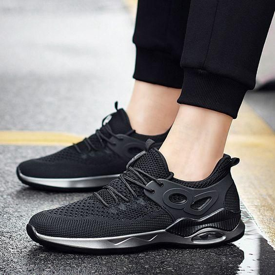 Men s FlyKnit Breathable Running Shoes in 2019  3173c8b8664a