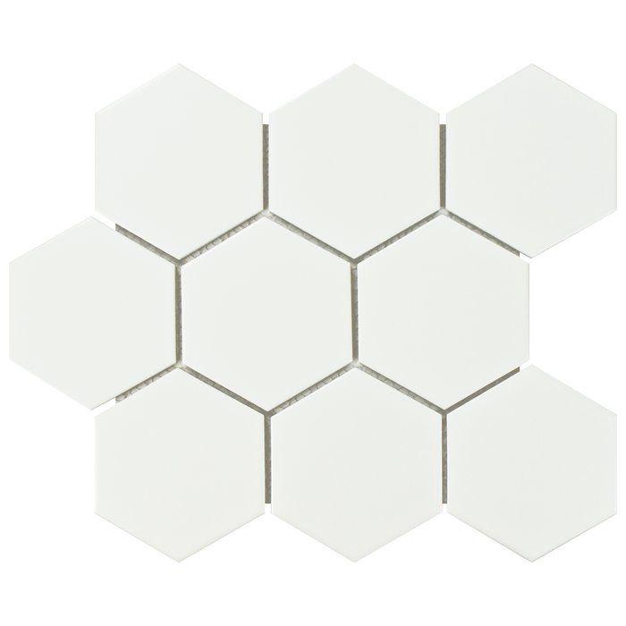 Retro Super Hex 3 73 Quot X 3 73 Quot Porcelain Mosaic Field Tile