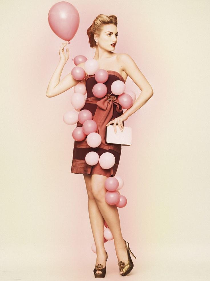 Chiffon Stripe Dress #bhldn #dress #balloons #wedding #party #stripe #clutch