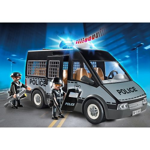 playmobil police van with lights and sounds 6043