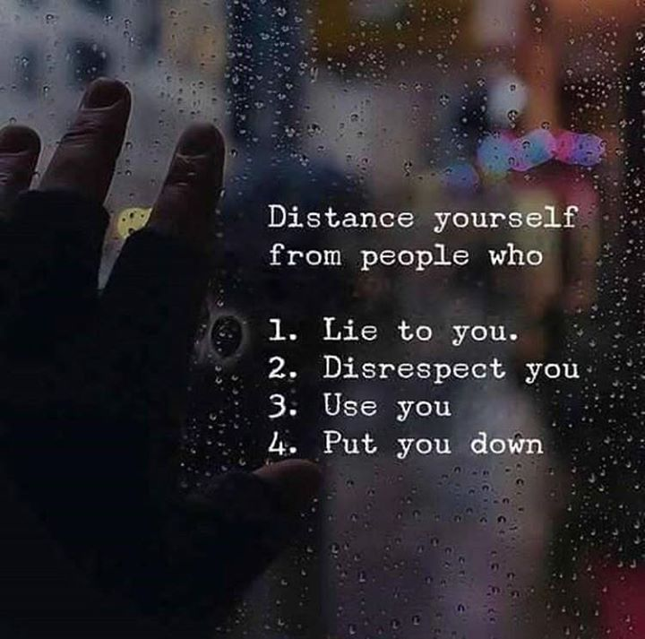 Distance yourself..