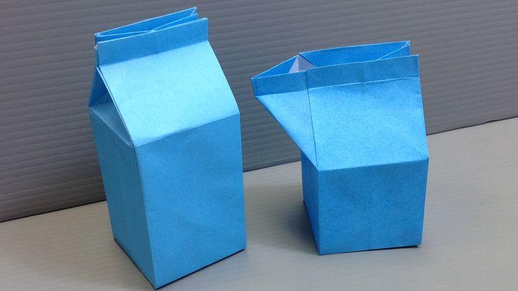 Origami Milk Carton Gift Box
