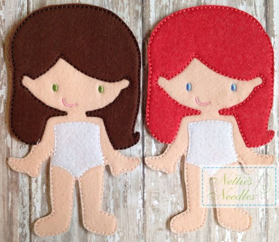 Felt Un Paper Molly Doll by NettiesNeedlesToo on Etsy, $6.00