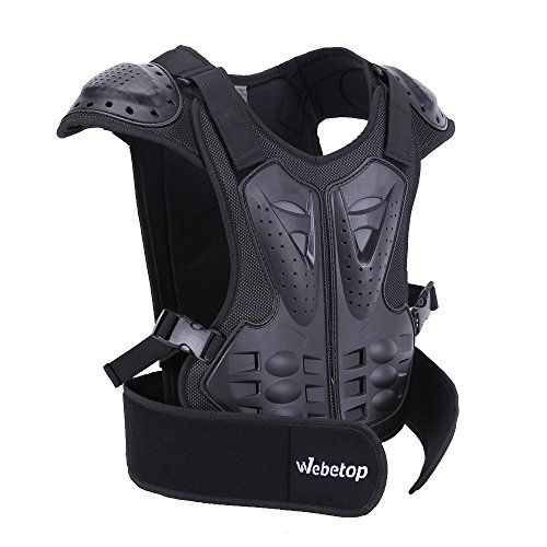 "Webetop Kids Dirt Bike Body Chest Spine Protector Armor Vest Protective Gear for Dirtbike Bike Motocross Skiing Snowboarding Black(M for height 45""-51""). For product info go to:  https://www.caraccessoriesonlinemarket.com/webetop-kids-dirt-bike-body-chest-spine-protector-armor-vest-protective-gear-for-dirtbike-bike-motocross-skiing-snowboarding-blackm-for-height-45-51/"