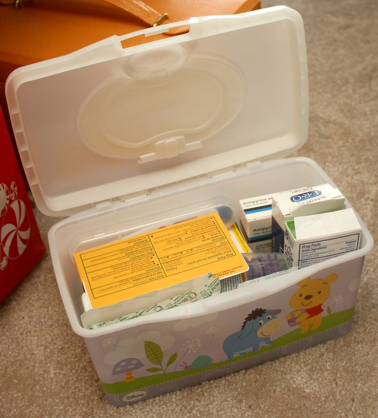 First Aid Kit in Wet Wipe Box for Traveling