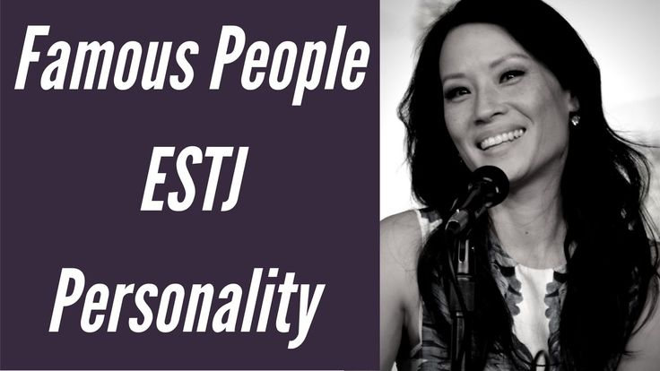 ESTJ Fictional Characters Personality types using the Myers Briggs Type Indicator (MBTI) See https://www.youtube.com/watch?v=50OqNIoXSqM