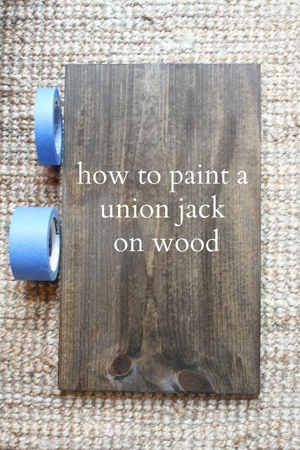 My Sweet Savannah: SIGN, how to paint a union jack on wood