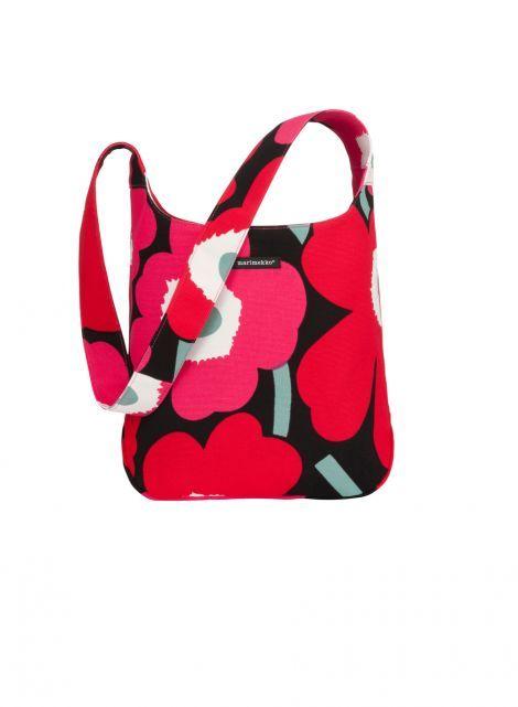 Clover (musta, punainen, pinkki) |Laukut, Olkalaukut ja reput, Laukut & asusteet | Marimekko