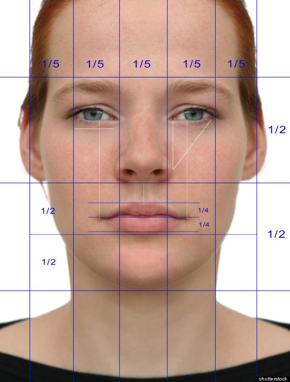 """FACT #6. There's a """"golden ratio"""" for faces.  Ever wonder if there's some magical formula for being beautiful? According to a 2010 study, ..."""