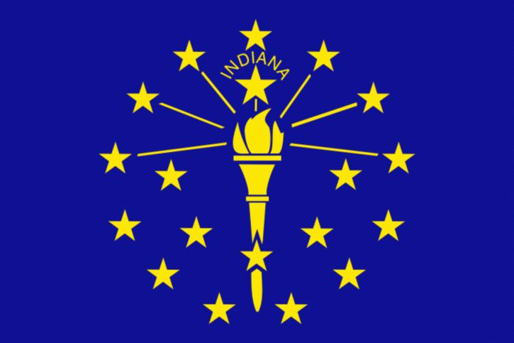 Indiana's state flag