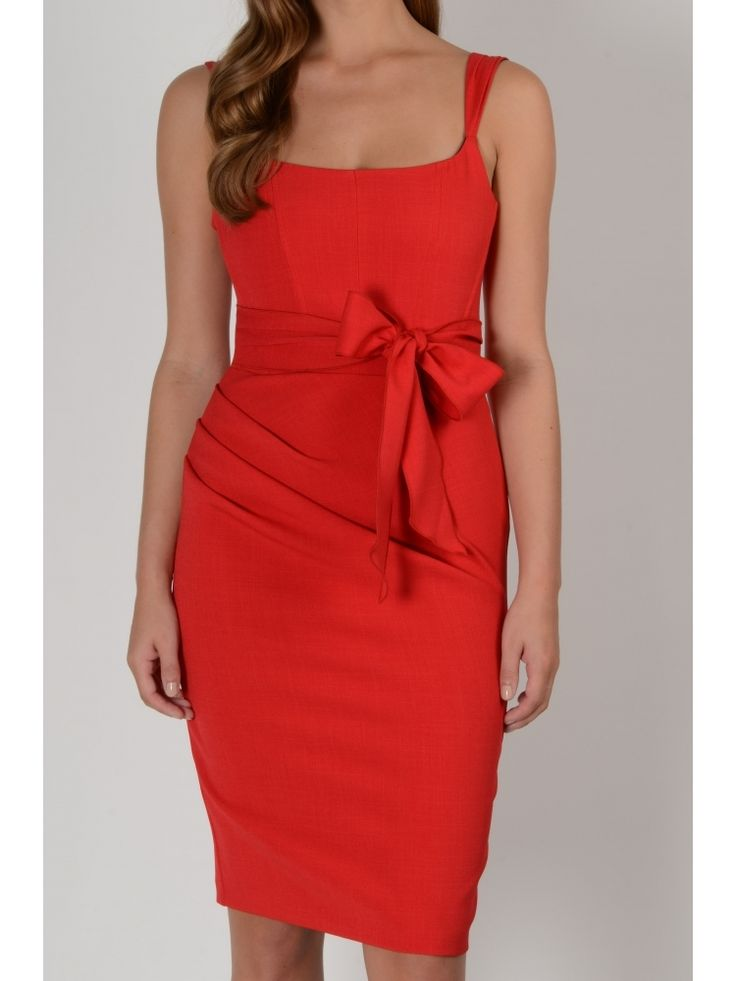 Hybrid Victoria Red Corset Style Dress With Bow Detail
