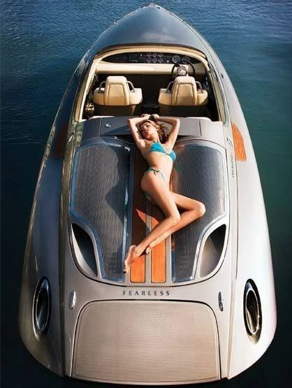 5 of the Coolest Automotive-Designed Speedboats. Check out the stunning Porsche Fearless Speedboat. #spon #luxury