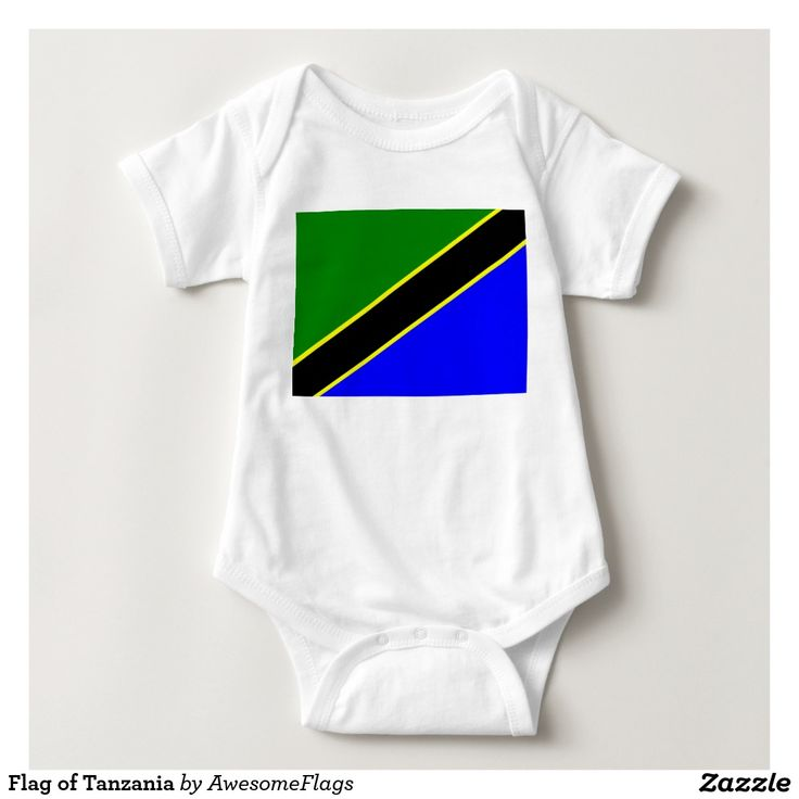 Flag of Tanzania Baby Bodysuit