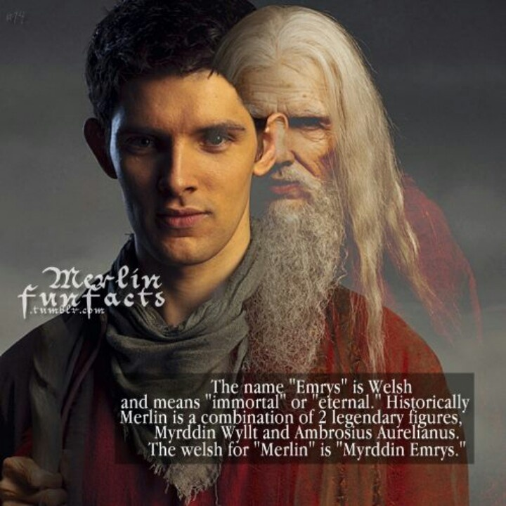 """Merlin. I also love the fact that Aurelianus is a character in the film """"The last legion"""" who becomes Merlin at the end"""