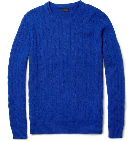 J.Crew,Cashmere Cable-Knit Sweater.